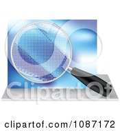 Clipart Quality Control Magnifying Glass Icon Royalty Free Vector Illustration by Andrei Marincas