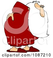 Clipart Santa With An Aching Back Royalty Free Vector Illustration by Dennis Cox