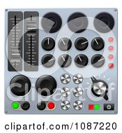 Clipart 3d Mixing Console Sound Board Buttons Royalty Free Vector Illustration