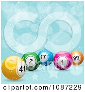 Clipart 3d Bingo Or Lottery Balls On A Star And Bubble Background Royalty Free Vector Illustration