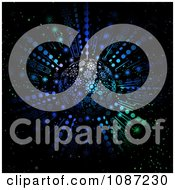 3d Blue And Green Snowflake Christmas Ornament And Light