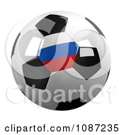Clipart 3d Russian Soccer Championship Of 2012 Ball Royalty Free CGI Illustration by stockillustrations