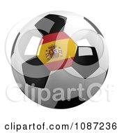 Clipart 3d Spain Soccer Championship Of 2012 Ball Royalty Free CGI Illustration