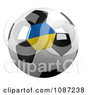 Clipart 3d Ukraine Soccer Championship Of 2012 Ball Royalty Free CGI Illustration