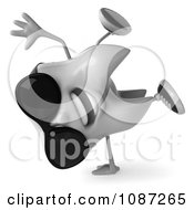 Clipart 3d Cool Cartwheeling Dental Tooth Wearing Sunglasses Royalty Free CGI Illustration