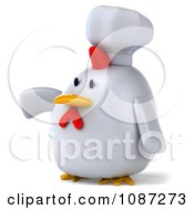3d Chubby Chef Chicken Presenting