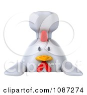 3d Chubby Chef Chicken With A Sign 1
