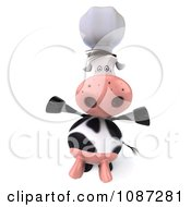 Clipart 3d Happy Chef Cow Royalty Free CGI Illustration