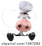 Clipart 3d Chef Cow With A Sign 1 Royalty Free CGI Illustration by Julos