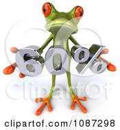3d Green Springer Frog Holding A 60 Percent Discount