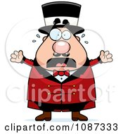 Clipart Stressed Chubby Circus Ring Master Freaking Out Royalty Free Vector Illustration
