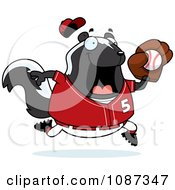 Clipart Chubby Skunk Playing Baseball Royalty Free Vector Illustration