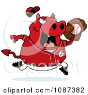 Clipart Chubby Devil Playing Baseball Royalty Free Vector Illustration by Cory Thoman