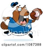 Chubby Badger Playing Baseball