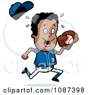 Clipart Black Baseball Boy Catching A Ball Royalty Free Vector Illustration