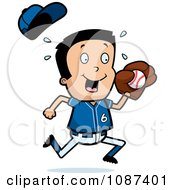 Clipart Little League Baseball Boy Catching A Ball Royalty Free Vector Illustration
