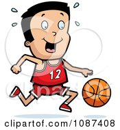 Clipart Athletic Boy Dribbling A Basketball Royalty Free Vector Illustration