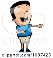 Clipart Boy Laughing And Pointing Royalty Free Vector Illustration by Cory Thoman