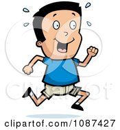 Clipart Happy Boy Running Royalty Free Vector Illustration by Cory Thoman