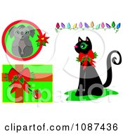 Christmas Cat Koala Lights And Gift