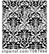 Clipart Seamless Black And White Floral Diamond Pattern Background 1 Royalty Free Vector Illustration by Vector Tradition SM