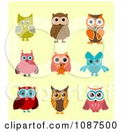 Clipart Colorful Owls Royalty Free Vector Illustration by Vector Tradition SM