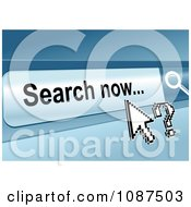 Clipart Cursor And Question Mark Over A Search Now Website Button Royalty Free Vector Illustration by Vector Tradition SM