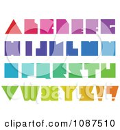 Clipart Colorful Blocky Capital Letters Royalty Free Vector Illustration by yayayoyo