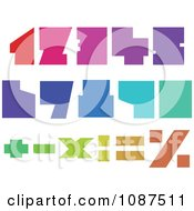 Clipart Colorful Blocky Numbers Royalty Free Vector Illustration