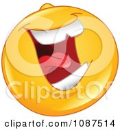 Clipart Laughing Emoticon Smiley Face Royalty Free Vector Illustration by yayayoyo