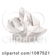 Clipart 3d Ball Of Crumpled Up Paper Royalty Free Vector Illustration