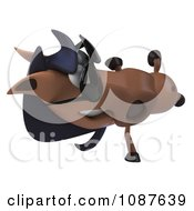 Clipart 3d Cartwheeling Charlie Horse Wearing Sunglasses Royalty Free CGI Illustration by Julos