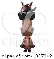 Clipart 3d Charlie Horse Peering Over Sunglasses Royalty Free CGI Illustration by Julos