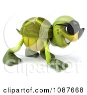 Clipart 3d Walking Tortoise Wearing Shades Royalty Free CGI Illustration