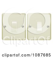 Clipart 3d Beige Flip Light Switches On And Off Royalty Free Vector Illustration by AtStockIllustration