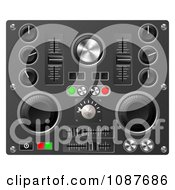 Clipart 3d Mixing Desk Buttons Knobs And Switches Royalty Free Vector Illustration