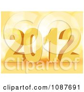 Clipart 3d Orange New Year 2012 Over Light Flares Royalty Free Vector Illustration by elaineitalia