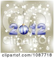 Clipart Blue New Year 2012 And Bauble On Gold Sparkles Royalty Free Illustration