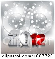 Clipart New Year 2012 On Silver Sparkles Royalty Free Illustration