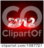 Clipart Glowing Glass New Year 2012 On Red Royalty Free Illustration