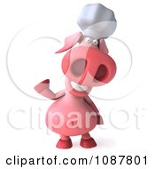 Clipart 3d Chef Pig Waving Royalty Free CGI Illustration by Julos