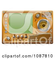 Clipart 3d Steampunk Media Player Screen And Control Panel Royalty Free Vector Illustration by AtStockIllustration