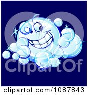 Clipart Smiling Sparkly Bubble Character Royalty Free Vector Illustration