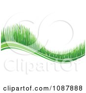 Clipart Green Grassy Wave Royalty Free Vector Illustration