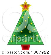 Green Triangle Christmas Tree With