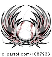 Clipart Winged Baseball Royalty Free Vector Illustration
