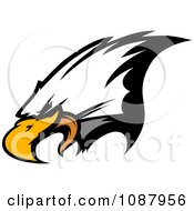 Clipart Mascot Bald Eagle Face Royalty Free Vector Illustration by Chromaco