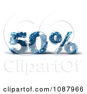 Clipart 3d Shattering Glass 50 Percent Discount Royalty Free CGI Illustration
