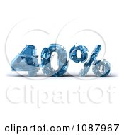 Clipart 3d Shattering Glass 40 Percent Discount Royalty Free CGI Illustration