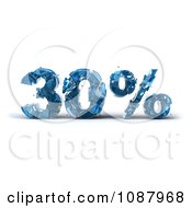 Clipart 3d Shattering Glass 30 Percent Discount Royalty Free CGI Illustration